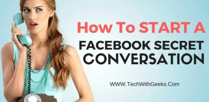 How To Start Facebook Secret Conversation