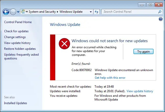 How to fix 0x80070002 on Your Windows installation