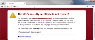 Fix SSL certificate error on Google Chrome