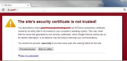 Fix SSL certificate error on Google Chrome