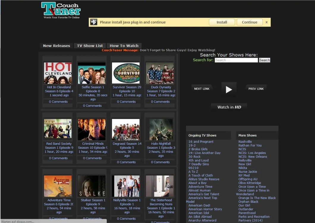 CouchTuner site