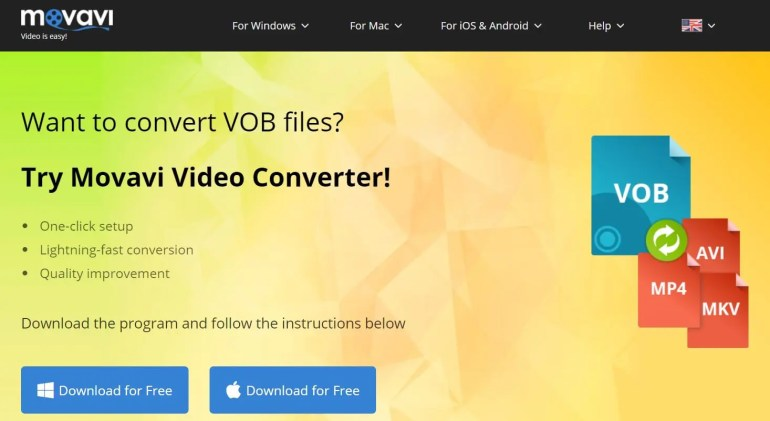 How to convert VOB files Movavi Video Converter