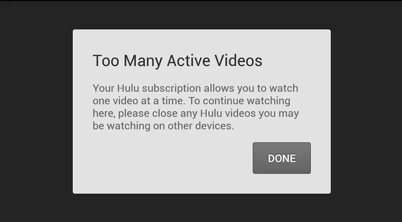 Invalid Hulu devices