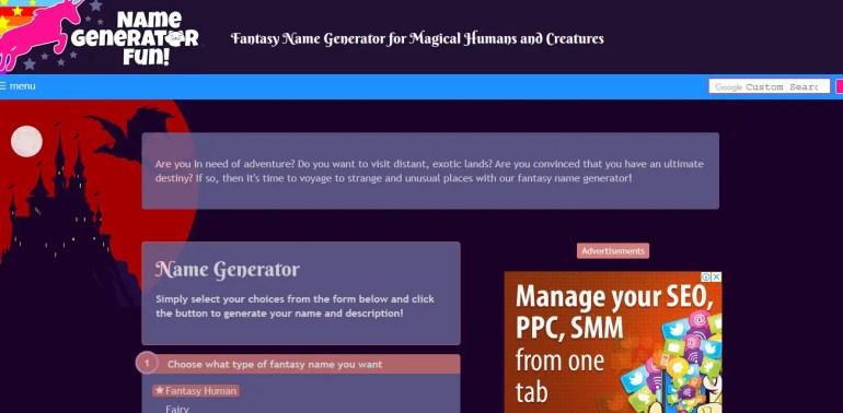 random fantasy name generator