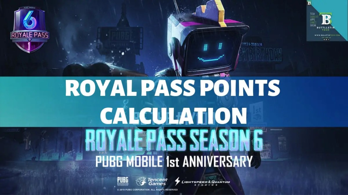PUBG Mobile Season 6 Royal Pass Points Overview