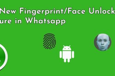 Fingerprint/Face Unlock Feature In Whatsapp
