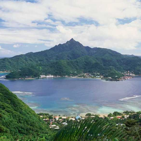 US Samoa island