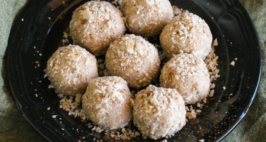 Pumpkin Spice Bliss Balls on plate