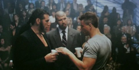 Qissi brothers on set of Lionheart with JCVD