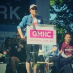 Lana Parrilla speaking at AIDS Walk New York 2014