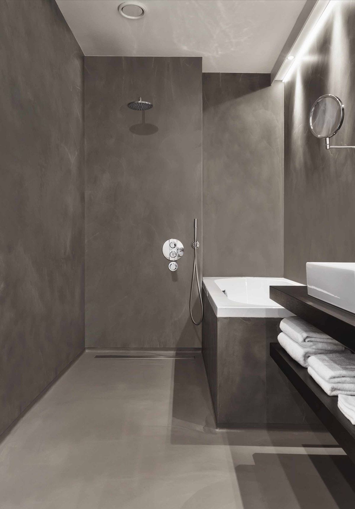 Badezimmer Spachteln Statt Fliesen