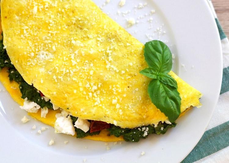 Omlet ze szpinakiem 2