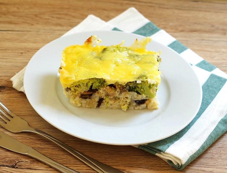 Zapiekanka ryżowa z brokułami i kurczakiem 3