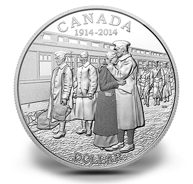 2014 - $1 fine silver - 100th Anniversary of the Declaration of First World War