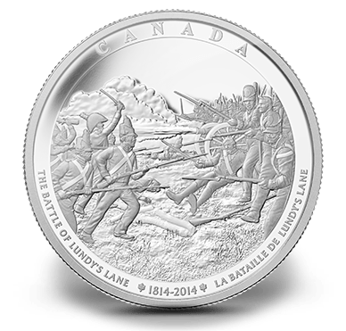 2014 - $250 One Kilo Fine Silver Coin - War of 1812 - The Battle of Lundy's Lane