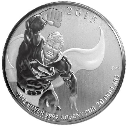 2015 - $20 Fine Silver Coin - SUPERMAN