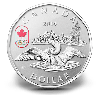 2014 - $1 Fine Silver Coin - Lucky Loonie