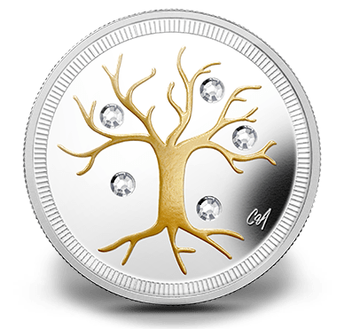 2014 - $3 Fine Silver Coin - Jewel of Life
