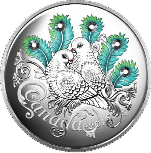 2016 - $10 Fine Silver Coin - Celebration Of Love