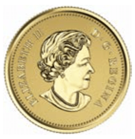 2016 - $10 Pure Gold Coin - Maple leaves with Queen Elizabeth II Effigy (2003)