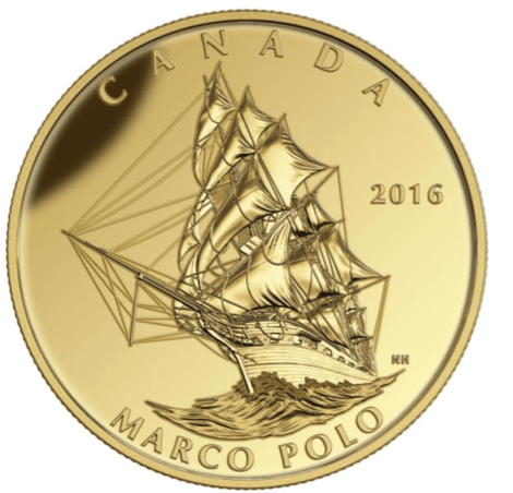 2016 - $200 Pure Gold Coin - Tall Ships Legacy - Marco Polo