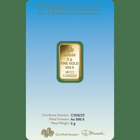 Gold Buddha 5g PAMP Bar