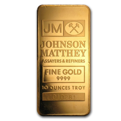 10 Oz Gold Johnson Matthey Bar