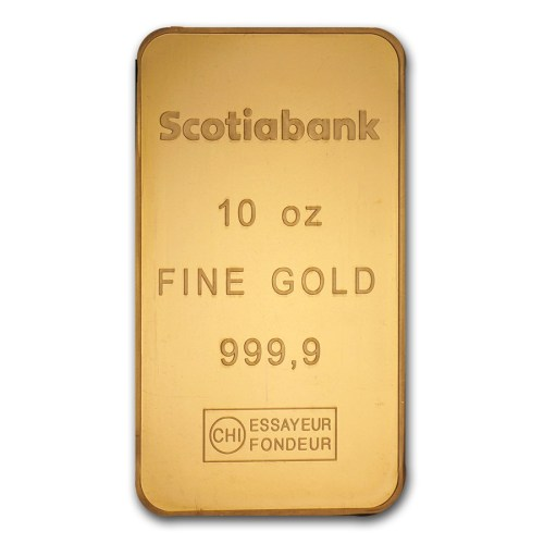 10 Oz Scotia Bank Gold Bar
