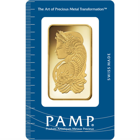 100 GRAM Gold PAMP Suisse Lady Fortuna Bar