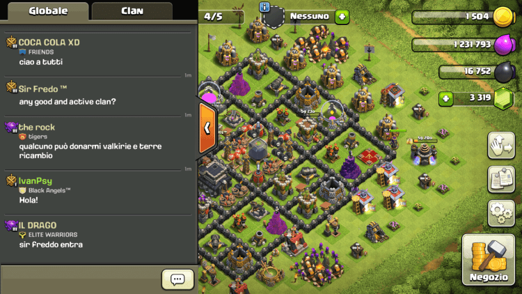 Chat di Clash of Clans