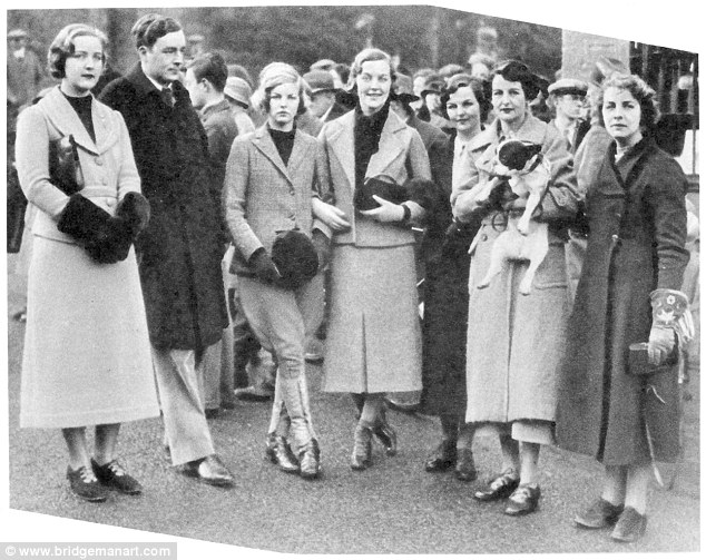 The Mitford Sisters with their French Bulldog
