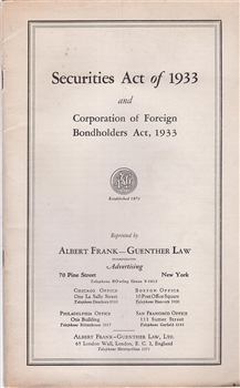 Securities Act Of 1933 And Corporation Of Foreign
