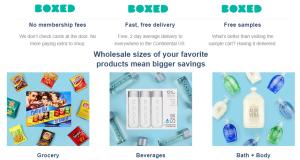 Anche Boxed spedisce prodotti in bulk, ma senza sottoscrizione