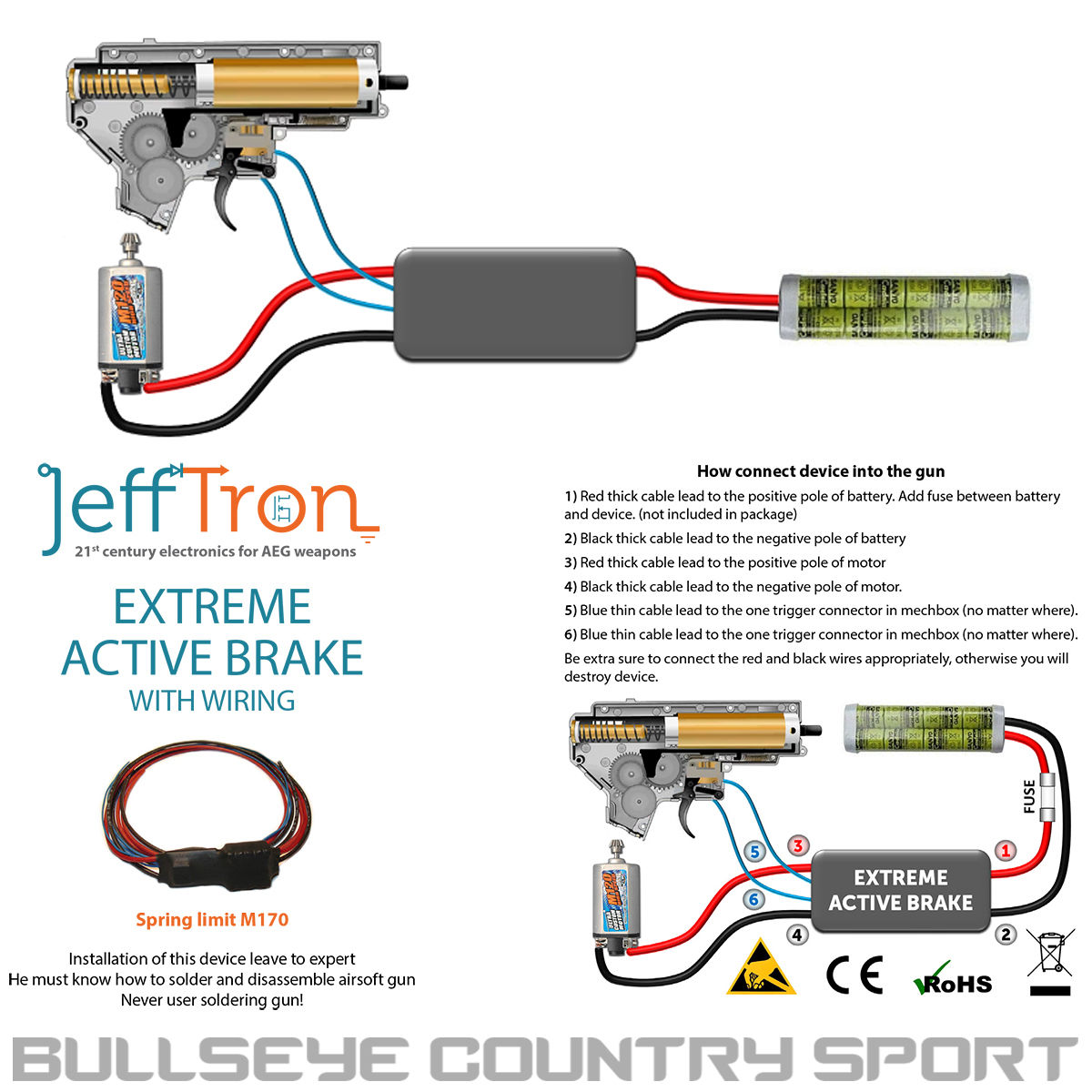 Jefftron Airsoft Mosfet With Extreme Active Breaking Power