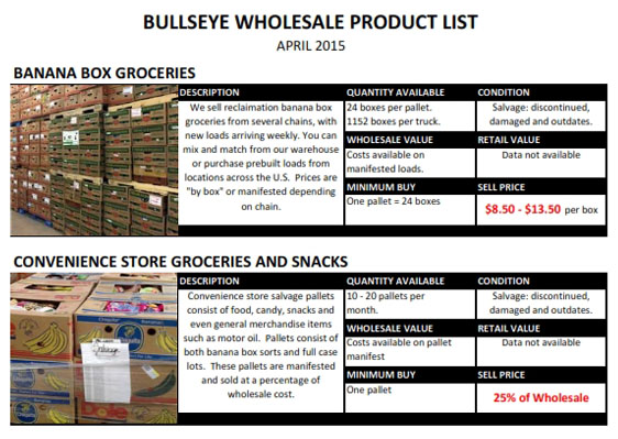 VIEW THE BULLSEYE INVENTORY CATALOG HERE