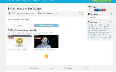Visionnez des vidéos sur les nouvelles publications de vos enseignants
