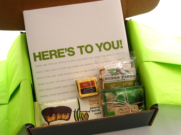 bumbleBdesign - Here's To You Box with goodies, medium size, Seattle gifts
