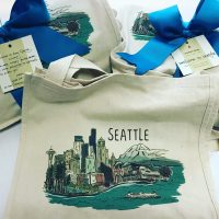 bumbleBdesign-Seattle Tote - gift bags - eco-friendly gifts