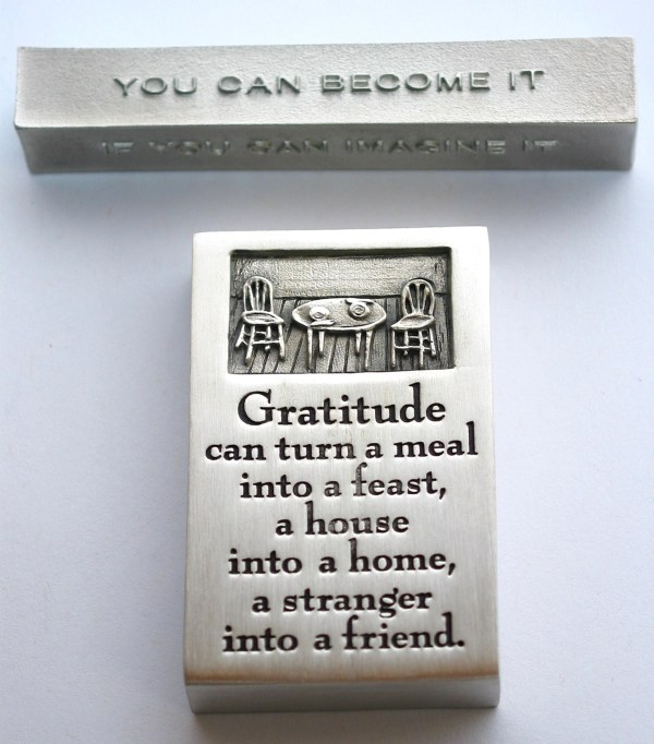 bumbleBdesign - paperweight boxes - gratitude + achieve-dream-become