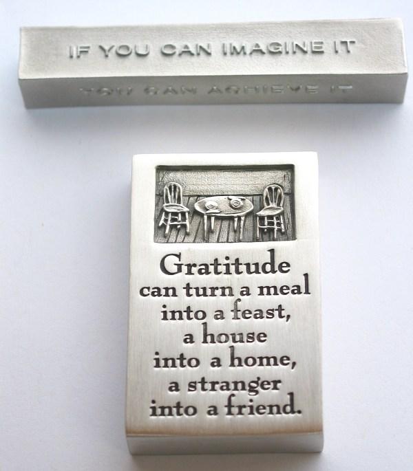 bumbleBdesign - paperweight boxes - gratitude + achieve-dream-imagine, Seattle WA