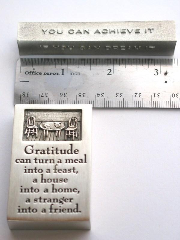 bumbleBdesign - paperweight boxes - gratitude + achieve Seattle WA
