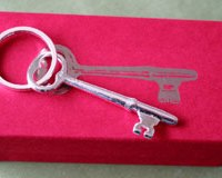 sterling silver key