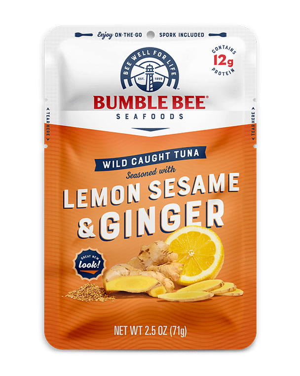 BUMBLE BEE® Lemon Sesame & Ginger Seasoned Tuna Pouch With Spork
