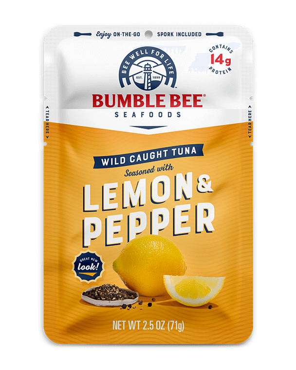 BUMBLE BEE® Lemon & Pepper Seasoned Tuna Pouch With Spork
