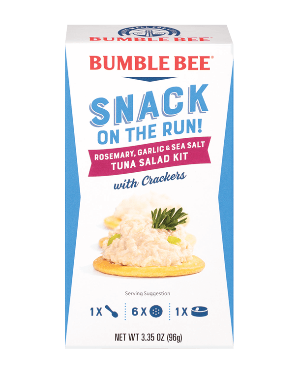 BUMBLE BEE® Snack On The Run! Rosemary, Garlic & Sea Salt Tuna Salad Kit With Crackers