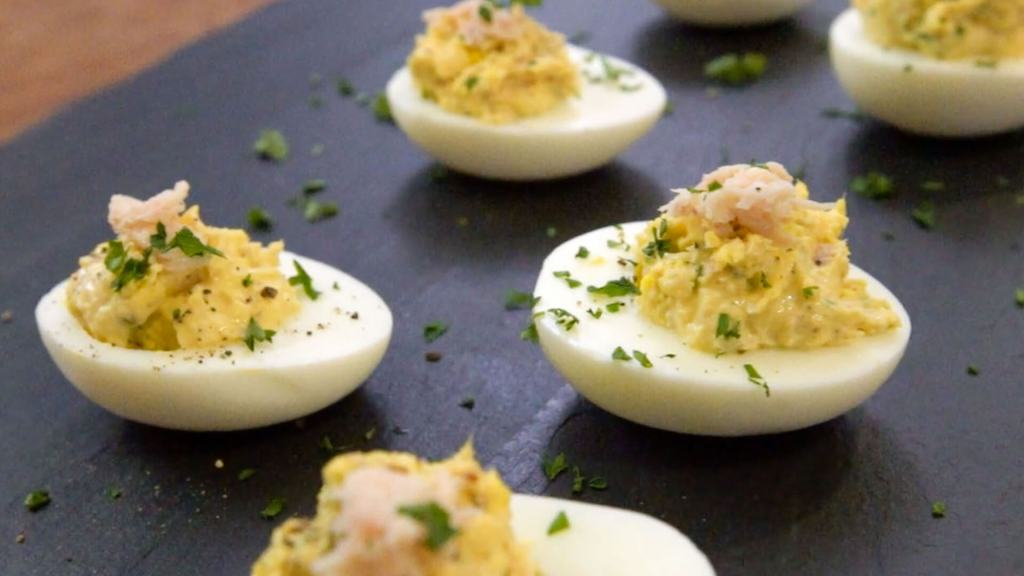 Curried Tuna Deviled Egg Recipe by Sam the Cooking Guy®
