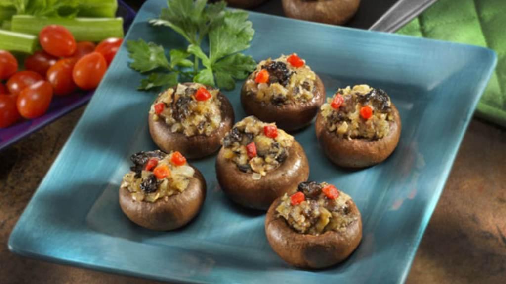 Oyster-Stuffed Mushrooms