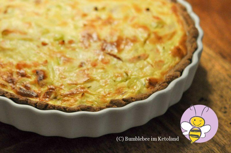 Ketogene Lachs Quiche