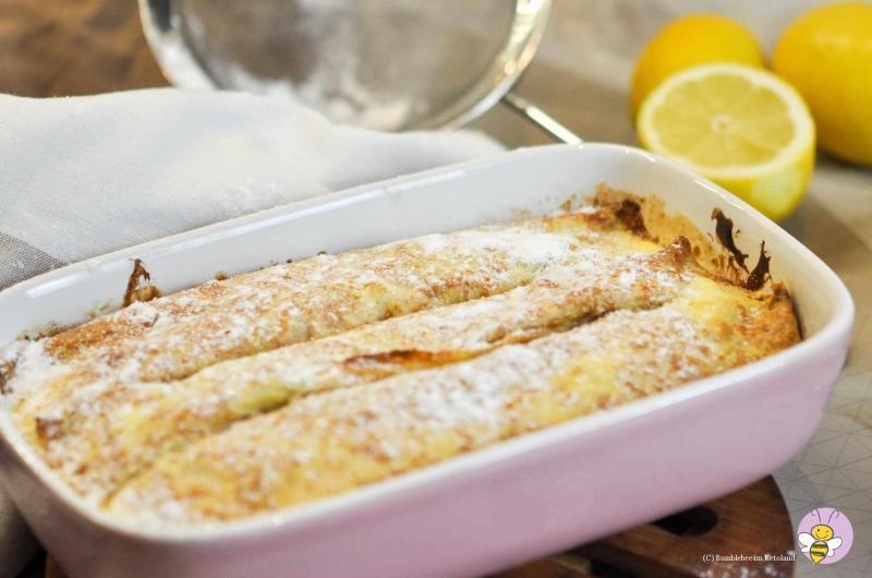 Überbackene Topfenpalatschinken mit Vanille-Sauce
