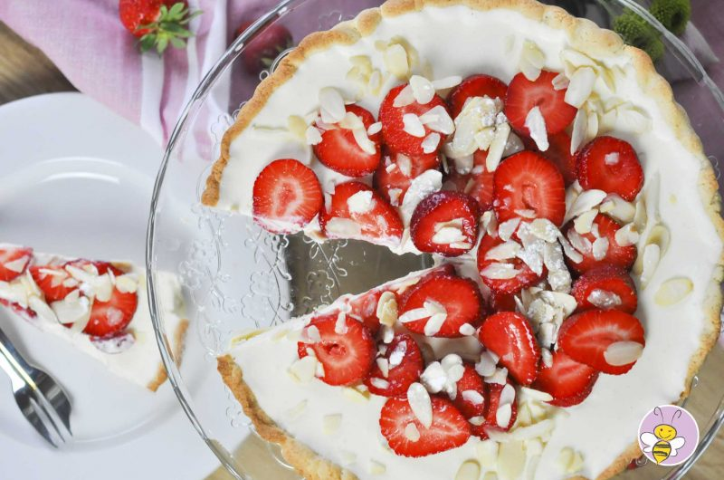 Erdbeer Tarte mit Holundercreme